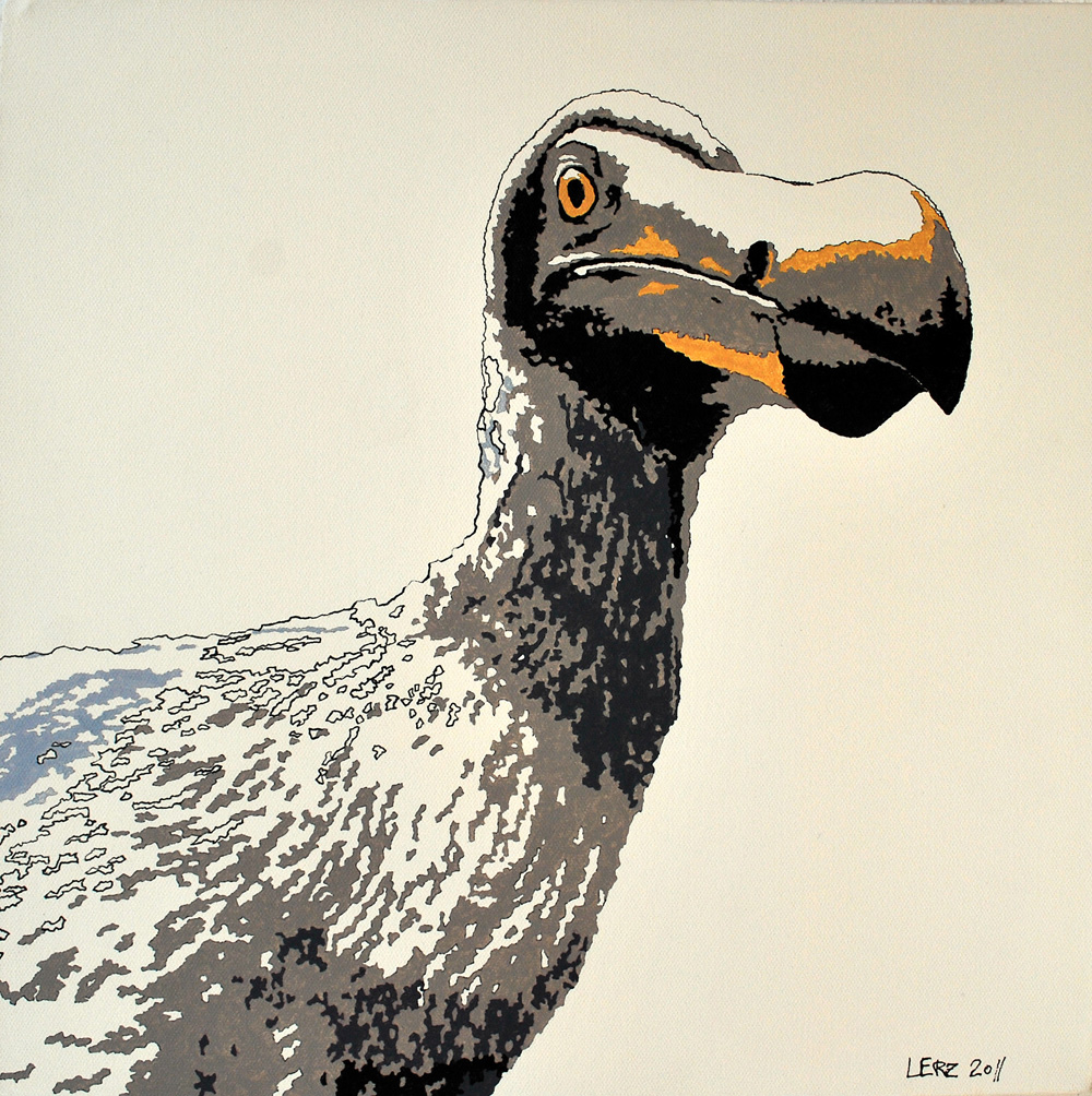 Dodo extinct 1690<span> • Acryl auf Leinwand, 40 cm x 40 cm, 2011</span>